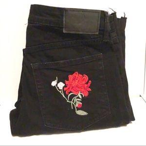 H&M Rose Black Jeans